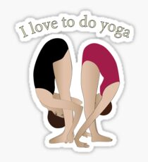 I love to do yoga Sticker
