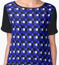 Checker Block Pattern Chiffon Top