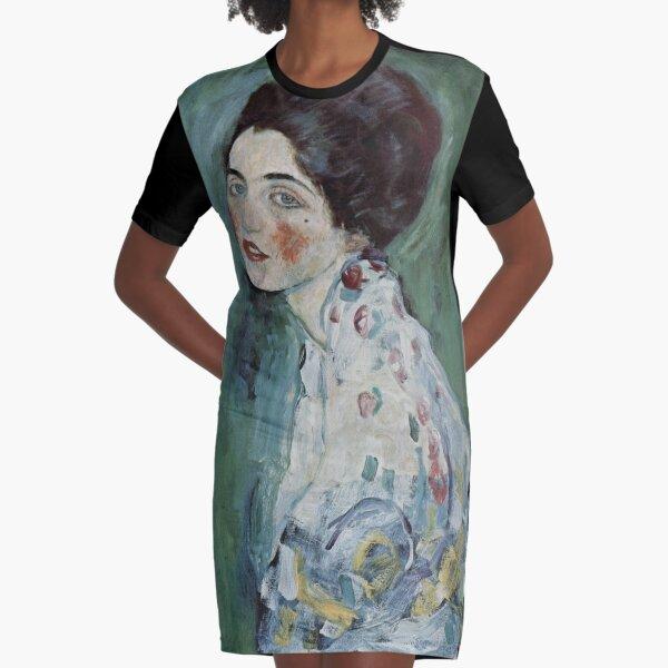 Stolen Art - Portrait of a Lady by Gustav Klimt Graphic T-Shirt Dress