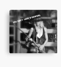 YOU CAN'T TAME A COWGIRL Canvas Print