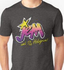 Camiseta unisex Angustiado Vintage Look Jem y los hologramas
