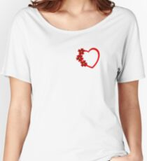 I am in love beautiful explanation with red flower and red love sign Women's Relaxed Fit T-Shirt