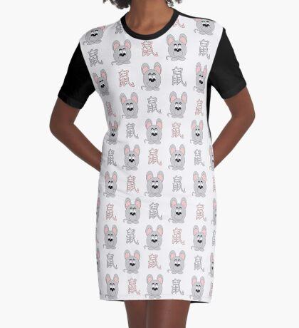 2020 - das chinesische Jahr der Ratte T-Shirt Kleid