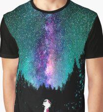 Calvin and hobbes galaxy night Graphic T-Shirt