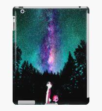 Calvin and hobbes galaxy night iPad Case/Skin