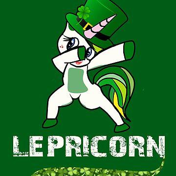 Funny Leprecorn T-Shirt, St Patricks Day shirt women Leprechaun Unicorn Gift by KhushbooLohia