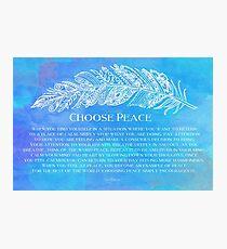 Choose Peace Photographic Print