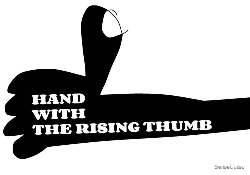 the hand with the rising thumb