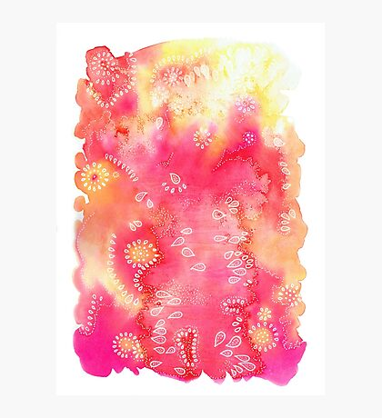 Water colors 3 - Pink and yellow corals Impression photo