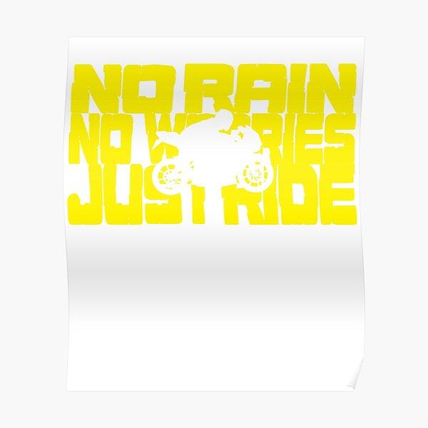 Motorcycle biker - Just Ride shirt - hoodie Poster
