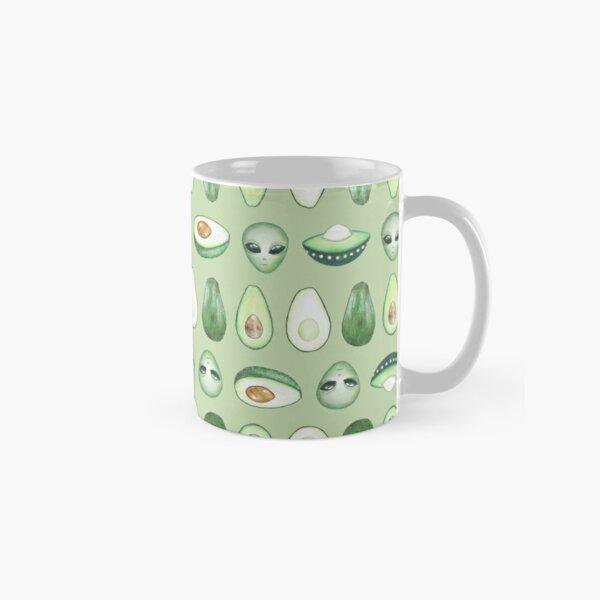 Avocados and aliens pattern Mug classique