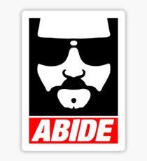 """""""The Dude"""" Abide Sticker"""