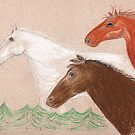 The Three Horses by Anne Gitto