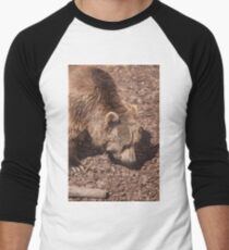 bear in the zoo Men's Baseball ¾ T-Shirt