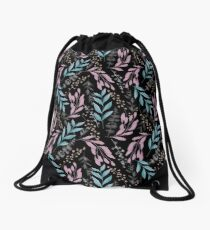 Plants pattern Drawstring Bag