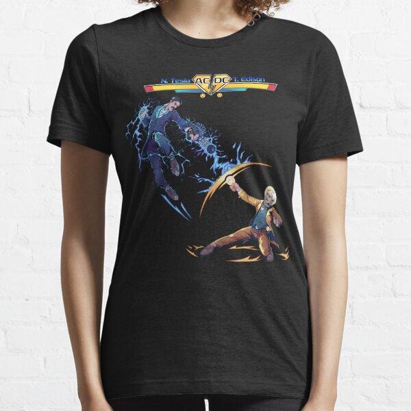 Nikola Tesla Vs. Thomas Edison - AC/DC - Elon Musk Essential T-Shirt