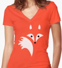 Fox Lines Women's Fitted V-Neck T-Shirt