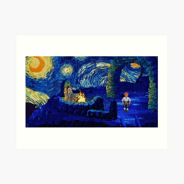 Melee Starry Night - T-Shirts, Gadgets & Face Masks Art Print
