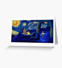 Melee Starry Night Greeting Card