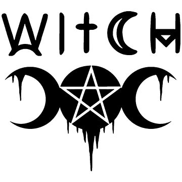 WICCA, WITCHY, WITCHCRAFT,  THE TRIPLE MOON by ShirtWreck