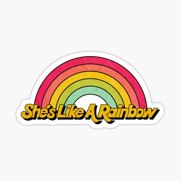 Ella es como un arcoiris Pegatina