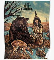 The Avett Brothers Cox Business Center March 2, 2018 Tulsa, OK Poster