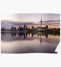 Auckland City Sunrise Poster