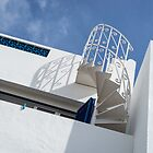 Blue and White Architecture - Spirals and Lines in the Sunshine by Georgia Mizuleva