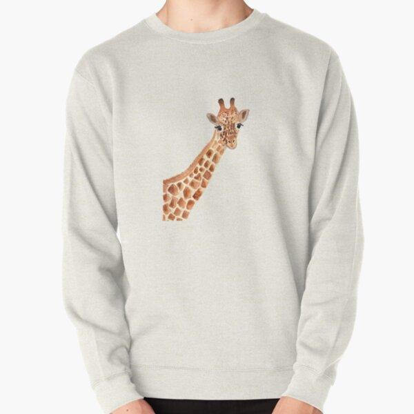 Watercolor Giraffe Pullover Sweatshirt