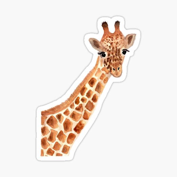 Aquarell Giraffe Sticker