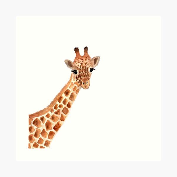 Girafe aquarelle Impression artistique