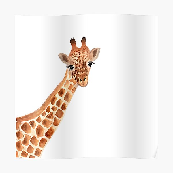 Watercolor Giraffe Poster