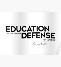 education, defense - edmund burke Poster