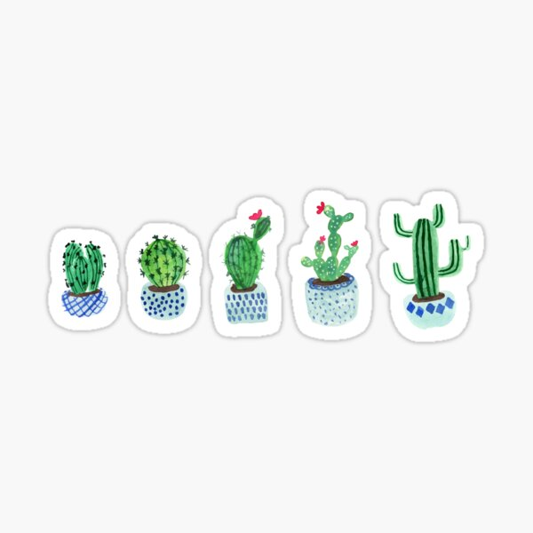 Cactus in watercolor Sticker