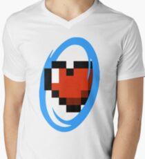 Portal Lover ! Blue Men's V-Neck T-Shirt