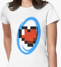 Portal Lover ! Blue Women's Fitted T-Shirt