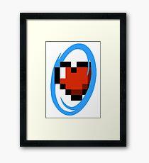 Portal Lover ! Blue Framed Print