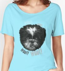 Shih-Tzu Says Woof! Woof! Women's Relaxed Fit T-Shirt