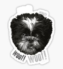 Shih-Tzu Says Woof! Woof! Sticker
