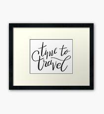 travel time Framed Print