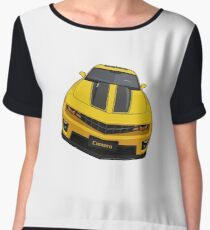 Chevy Camaro muscle car Chiffon Top