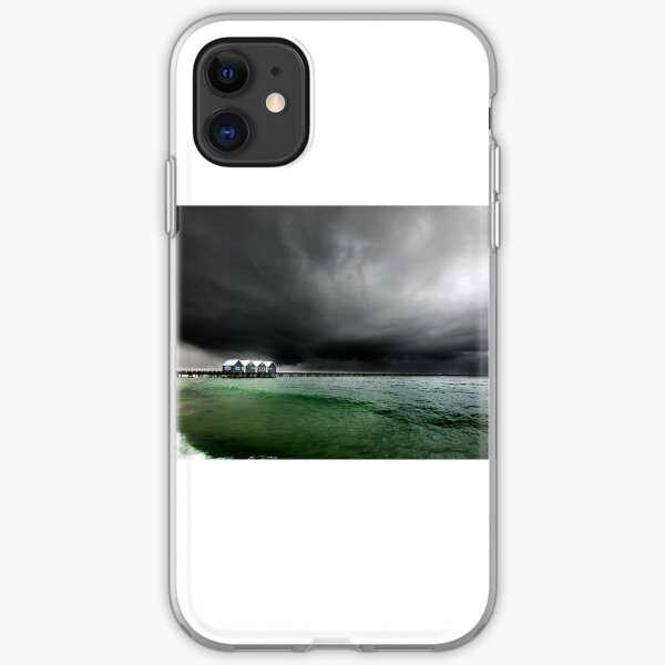 Storm at Busselton, Busselton Jetty, WA iPhone Soft Case