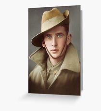 Australian soldier war portrait Greeting Card