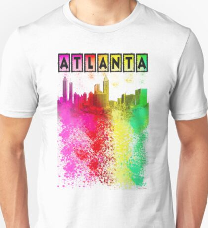 Atlanta Skyline In Living Color T-Shirt