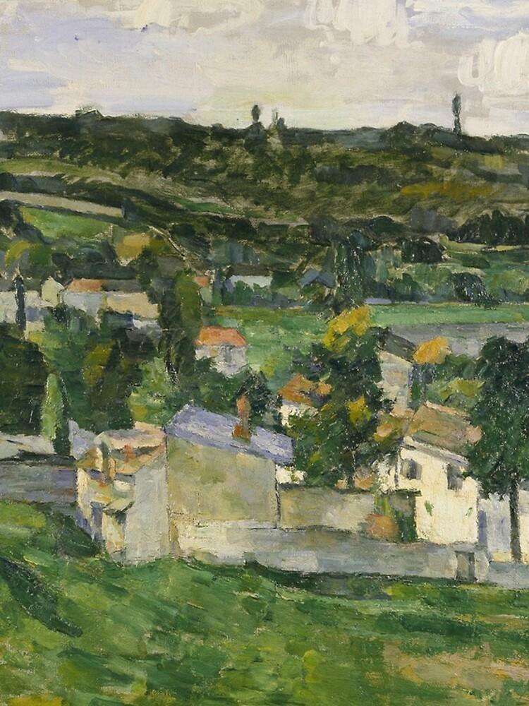 Stolen Art - View of Auvers-sur-Oise by Paul Cezanne by podartist