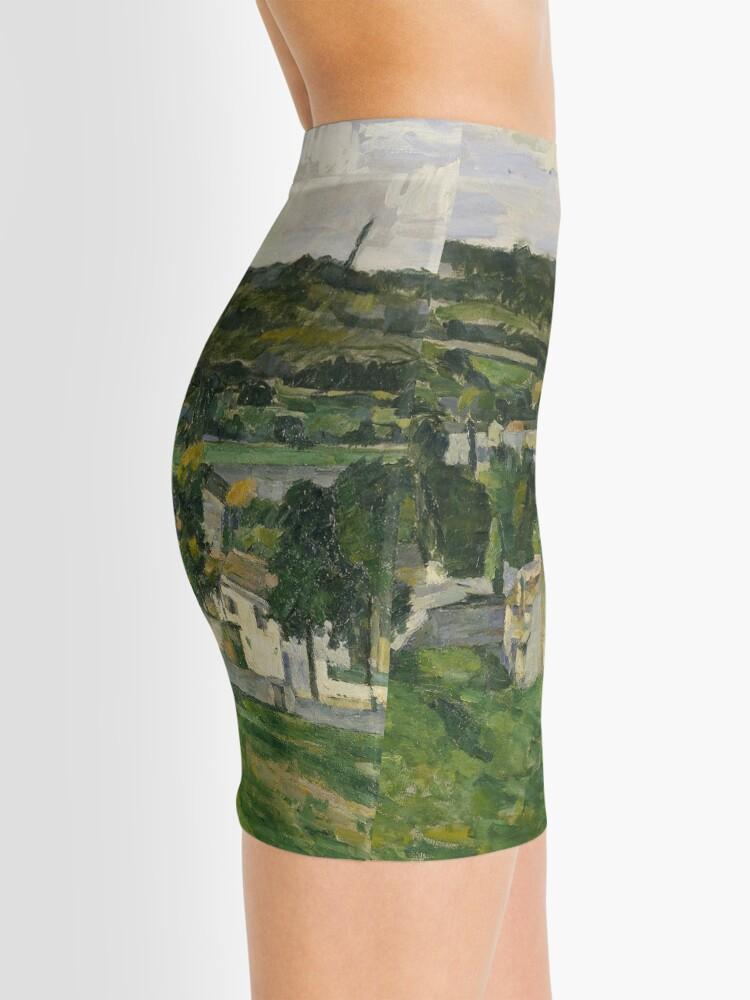 Alternate view of Stolen Art - View of Auvers-sur-Oise by Paul Cezanne Mini Skirt