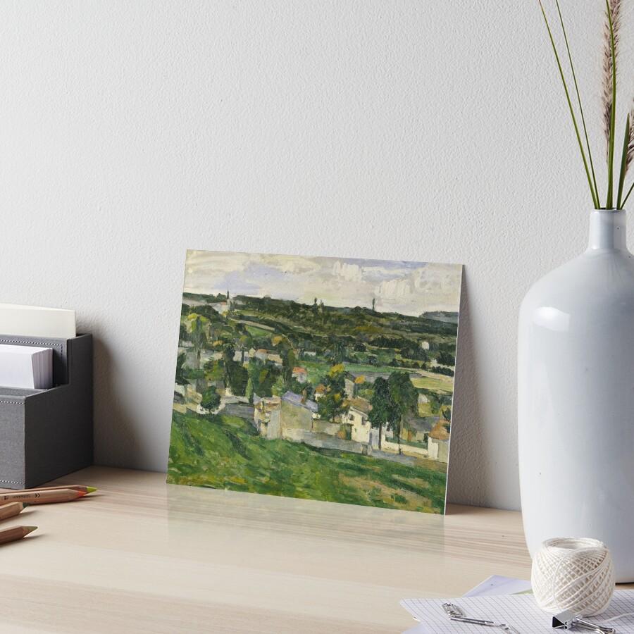 Stolen Art - View of Auvers-sur-Oise by Paul Cezanne Art Board Print