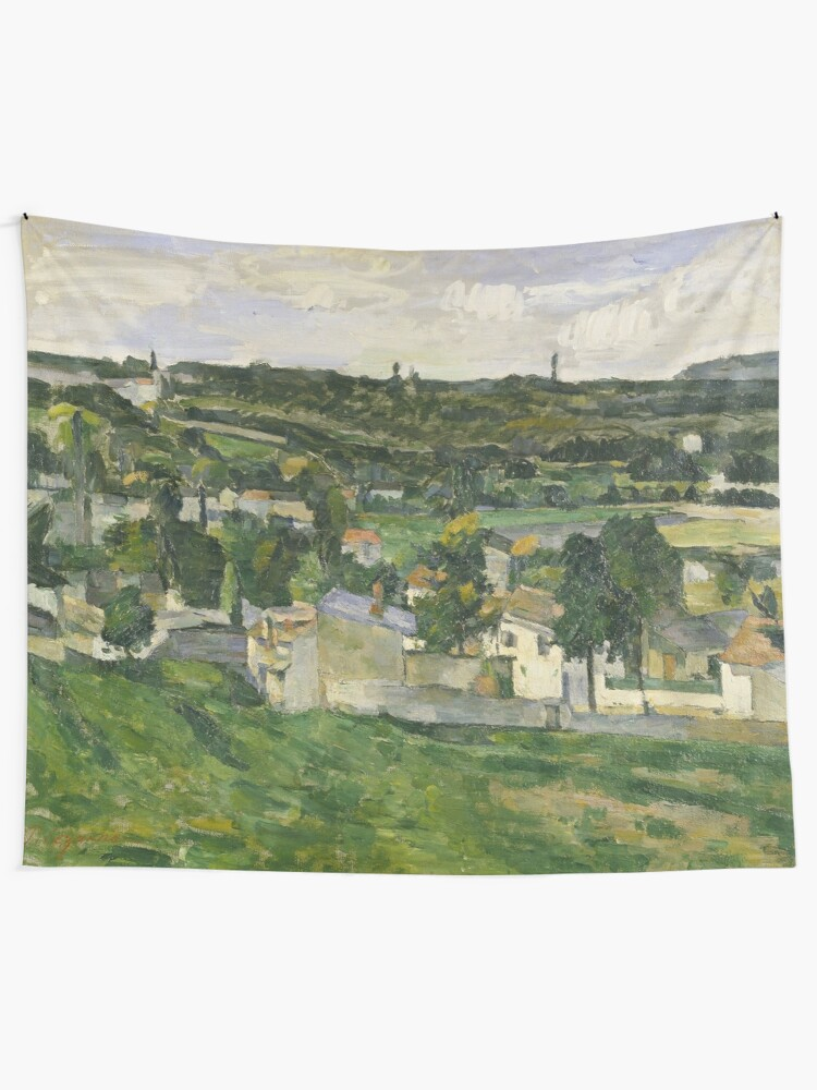 Alternate view of Stolen Art - View of Auvers-sur-Oise by Paul Cezanne Tapestry