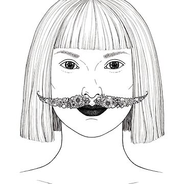 Lady with a floral mustache by Simut-P