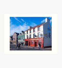 Walking The Sunny Streets Of Dingle Ireland Art Print